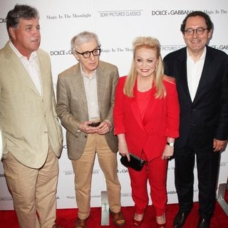 Tom Bernard, Woody Allen, Jacki Weaver, Michael Barker in New York Premiere of Magic in the Moonlight - Arrivals