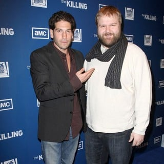 Jon Bernthal in Premiere of AMC's Series The Killing - bernthal-kirkman-premiere-the-killing-02