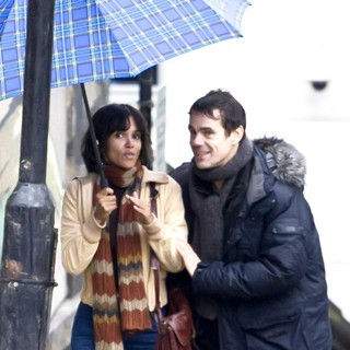 Halle Berry, Tom Tykwer in On The Film set of Cloud Atlas Shooting on Location in Glasgow