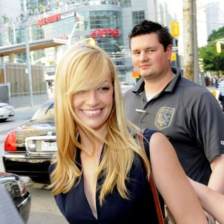 Beth Behrs in Beth Behrs Leaving CityTV Station in Toronto During Her Promotional Tour for 2 Broken Girls