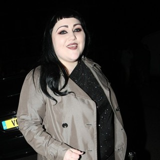 Beth Ditto, Gossip in London Fashion Week A-W 2011: Get A Life Palladium - Departures