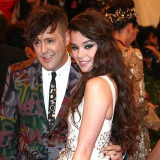 Andrew Bevan, Hailee Steinfeld in PUNK: Chaos to Couture Costume Institute Gala