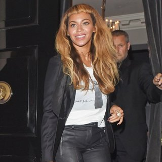 Beyonce Knowles Leaving The Arts Club
