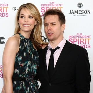 Leslie Bibb, Sam Rockwell in 2013 Film Independent Spirit Awards - Arrivals