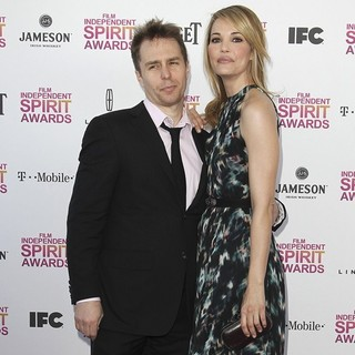 Sam Rockwell, Leslie Bibb in 2013 Film Independent Spirit Awards - Arrivals
