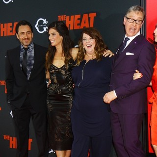 Demian Bichir, Sandra Bullock, Melissa McCarthy, Paul Feig in New York Premiere of The Heat - Red Carpet Arrivals