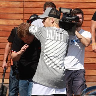 Justin Bieber - Justin Bieber and James Corden Spotted Filming at Maxisfield