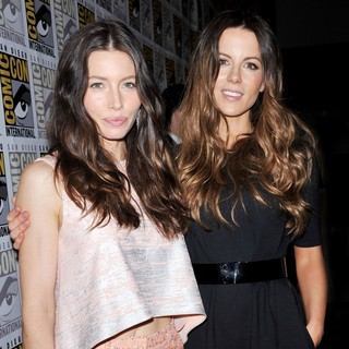Jessica Biel, Kate Beckinsale in 2011 Comic Con Convention - Day 2 - The Sony Press Conference