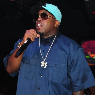 Big Boi, OutKast in Big Boi After His Free Concert Alongside His Band for MySpace Streaming