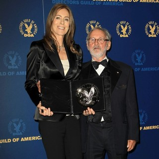 Kathryn Bigelow, Norman Jewison in 65th Annual Directors Guild of America Awards - Press Room