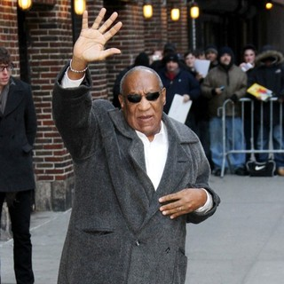 Bill Cosby in Celebrities Outside The Ed Sullivan Theater for The Late Show with David Letterman