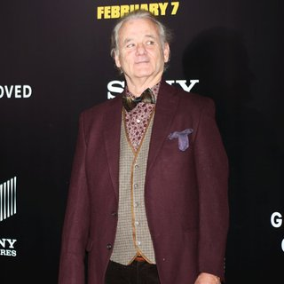 Bill Murray in New York Premiere of The Monuments Men - Inside Arrivals