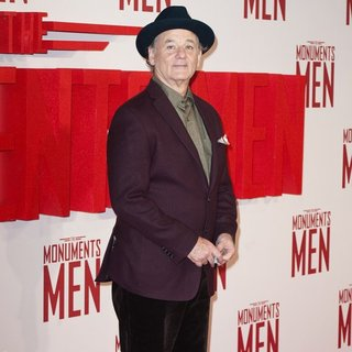 Bill Murray in U.K. Premiere of The Monuments Men - Arrivals