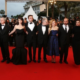 Paulo Branco, Don DeLillo, Juliette Binoche, Robert Pattinson, David Cronenberg, Sarah Gadon, Paul Giamatti, Emily Hampshire, Martin Kat in Cosmopolis Premiere - During The 65th Annual Cannes Film Festival
