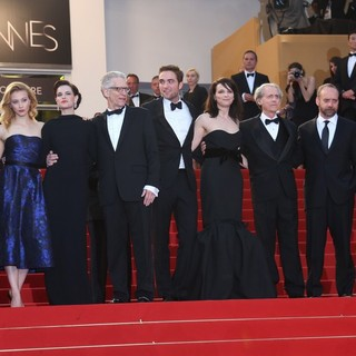 Martin Katz, Sarah Gadon, Emily Hampshire, David Cronenberg, Robert Pattinson, Juliette Binoche, Don DeLillo, Paul Giamatti, Paulo Branco in Cosmopolis Premiere - During The 65th Annual Cannes Film Festival