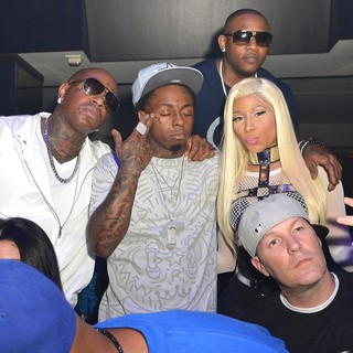 Birdman, Lil Wayne, Nicki Minaj in Nicki Minaj Hosts Pink Friday: Roman Reloaded Album Release Party