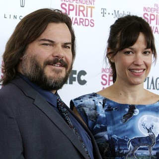 Jack Black, Tanya Haden in 2013 Film Independent Spirit Awards - Arrivals