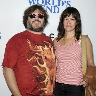 Jack Black, Tanya Haden in The World's End Hollywood Premiere