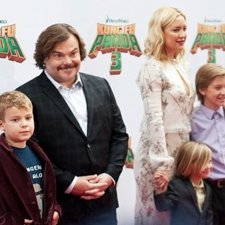 Samuel Jason Black, Jack Black, Kate Hudson, Bingham Hawn Bellamy, Ryder Robinson in World Premiere of Kung Fu Panda 3 - Arrivals