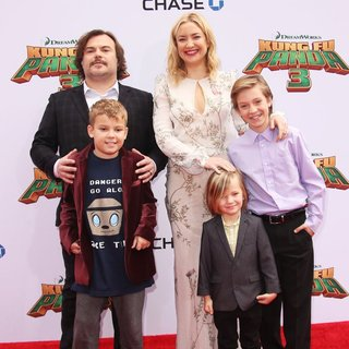 Jack Black, Samuel Jason Black, Kate Hudson, Bingham Hawn Bellamy, Ryder Robinson in World Premiere of Kung Fu Panda 3 - Arrivals