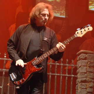 Geezer Butler, Black Sabbath in Black Sabbath Perform Live at The Cardiff International Arena