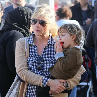 Selma Blair and Her Son Visit The Studio City Farmers Market