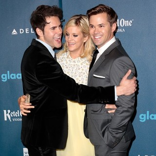 Jayson Blair, Georgia King, Andrew Rannells in 24th Annual GLAAD Media Awards - Arrivals