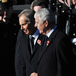 Tony Blair, John Major in Sunday Commemorating Sacrifices of The Armed Forces