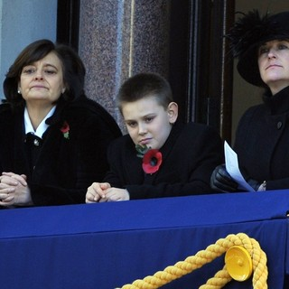 Cherie Blair, Leo Blair in Sunday Commemorating Sacrifices of The Armed Forces