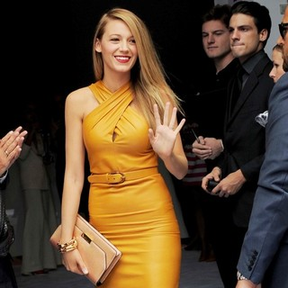 Blake Lively - Milan Fashion Week SS14 - Gucci - Outside Arrivals