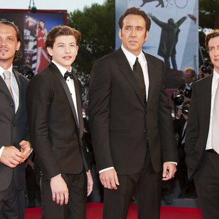 Ronnie Gene Blevins, Tye Sheridan, Nicolas Cage, David Gordon Green in 70th Venice Film Festival - Joe - Premiere - Red Carpet