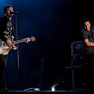 Tom DeLonge, Mark Hoppus, Blink-182 in Leeds Festival 2010 - Day 2