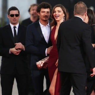 Orlando Bloom, Miranda Kerr in 70th Annual Golden Globe Awards - Arrivals