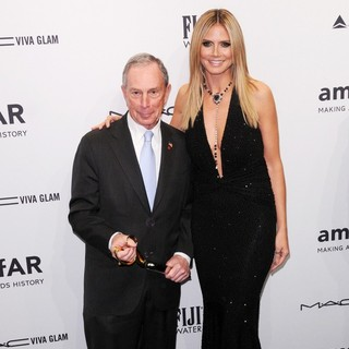 Michael Bloomberg, Heidi Klum in The amfAR Gala 2013