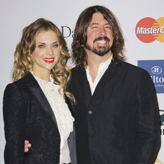 Jordyn Blum, Dave Grohl in Clive Davis and The Recording Academy's 2013 Pre-Grammy Gala and Salute to Industry Icons
