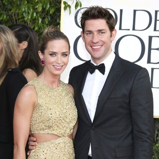 Emily Blunt, John Krasinski in 70th Annual Golden Globe Awards - Arrivals