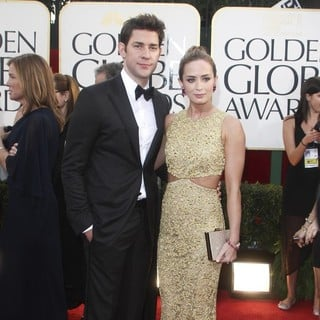 John Krasinski, Emily Blunt in 70th Annual Golden Globe Awards - Arrivals