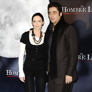 Emily Blunt, Benicio Del Toro in Photocall for The Wolfman
