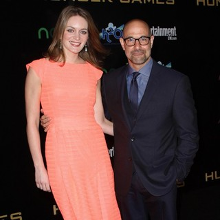 Felicity Blunt, Stanley Tucci in Los Angeles Premiere of The Hunger Games - Arrivals