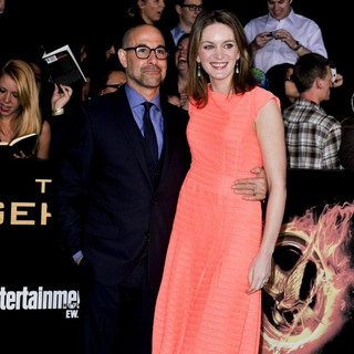 Stanley Tucci, Felicity Blunt in Los Angeles Premiere of The Hunger Games - Arrivals