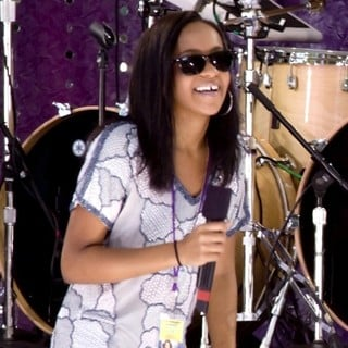 Bobbi Kristina Brown in Whitney Houston Performing Live on Good Morning America's Summer Concert Series