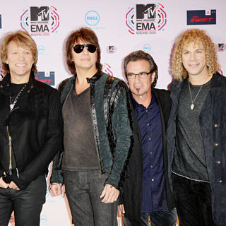 Bon Jovi in MTV Europe Music Awards 2010 - Arrivals