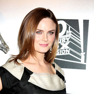 "Emily Deschanel in The ""Bones"" 100th Show Party"