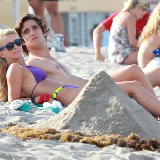 Diego Boneta, Julianne Hough in On The Set of New Movie Rock of Ages