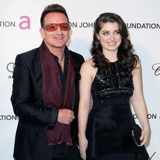 Bono, Memphis Eve Hewson in 21st Annual Elton John AIDS Foundation's Oscar Viewing Party