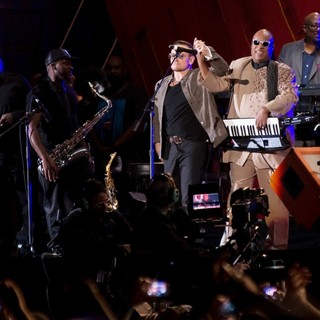 Bono, Stevie Wonder in 2013 Global Citizen Festival
