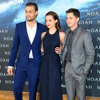 Douglas Booth, Emma Watson, Logan Lerman in German Premiere of Noah