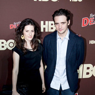 "Aleska Palladino, Vincent Piazza in Premiere of ""Bored to Death"" Season 2 - Arrivals"