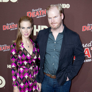 "Jeannie Noth, Jim Gaffigan in Premiere of ""Bored to Death"" Season 2 - Arrivals"