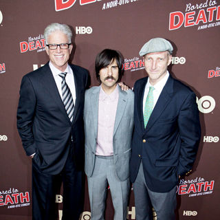 "Ted Dansen, Jason Schwartzman, Jonathan Ames in Premiere of ""Bored to Death"" Season 2 - Arrivals"